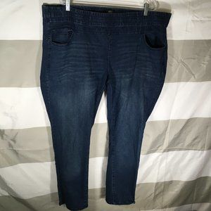One 5 One Women's Bump It Up Blue Jeans 3X